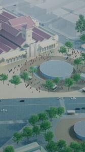 ベンタイン市場駅の完成予想図