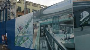 地下鉄のホーム完成予想図