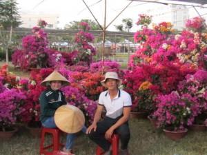 花に囲まれて、ちょっと休憩!